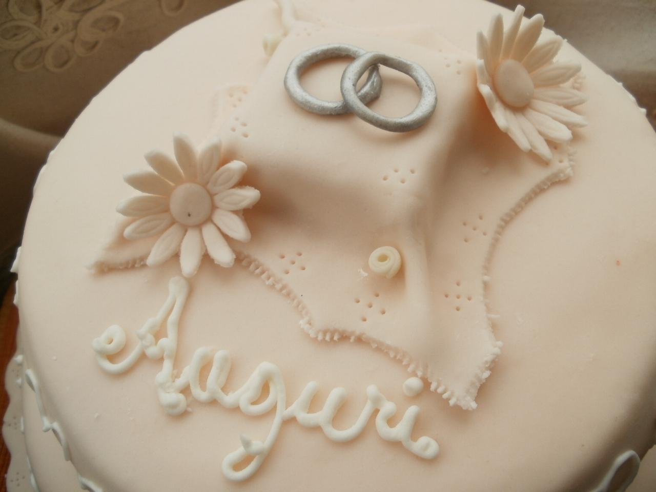 Popolare Il mondo di Agata: Torta venticinquesimo di matrimonio in pasta di  IC56