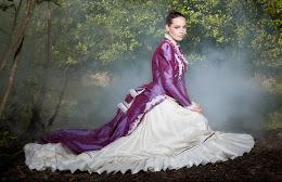 Robe de mariée à tournure