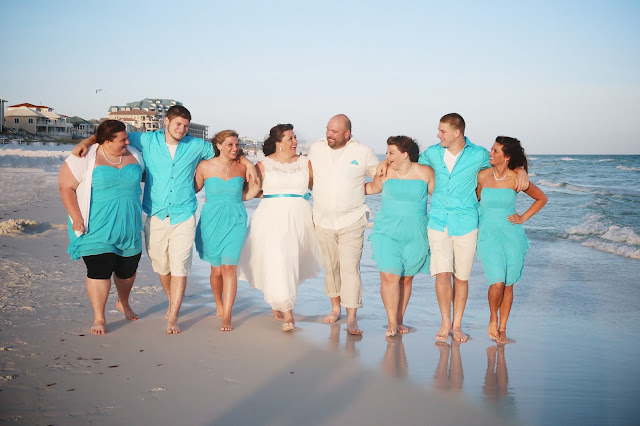 blend your family together on the beach for a wedding in Destin
