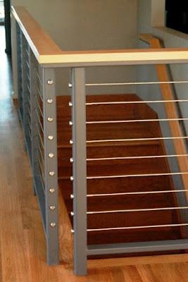 wire stair railing design installation tips