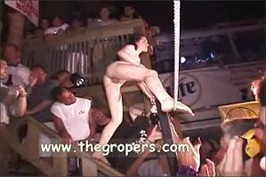 Grope woman in festival