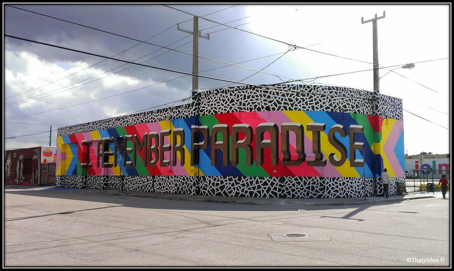 Lakwena female woman street artist Wynwood Walls I Remember Paradise