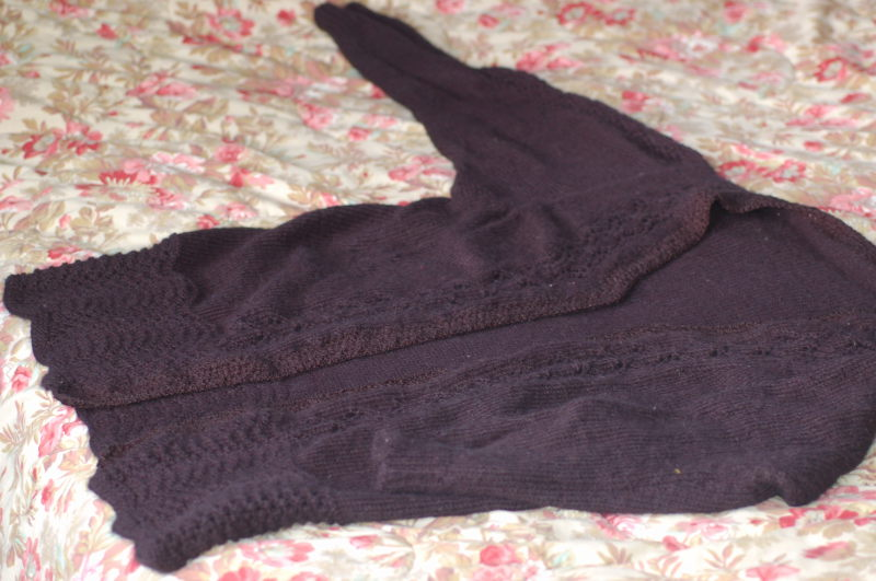 Pocahontas County Fare: Sweater-Knitting with a Sewing Pattern Template