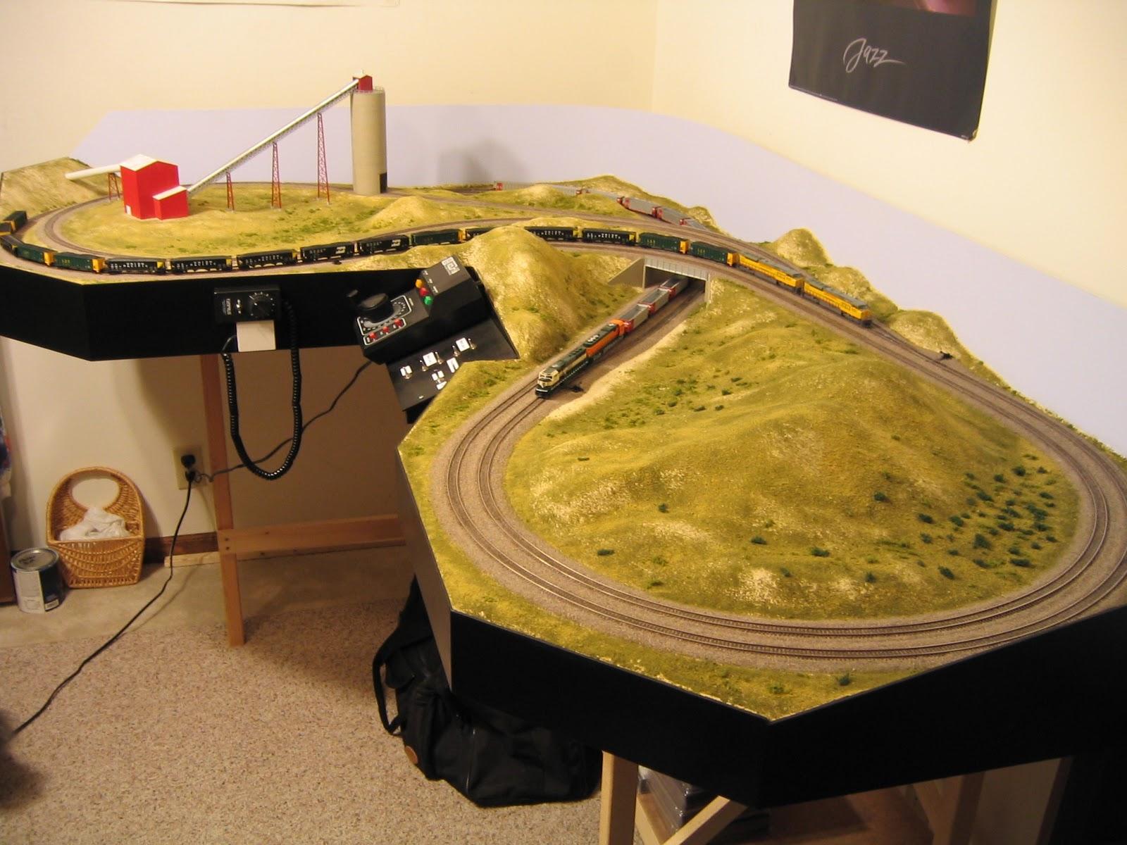 N scale model rr layouts