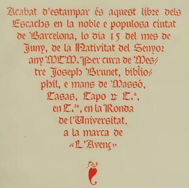 Detalles sobre la edición del libro De les costums dels homes i oficis dels noble traducido por Brunet