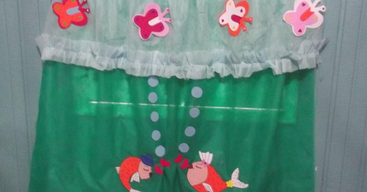 Artes da teka cortina de tnt com apliques em eva - Apliques para cortinas ...