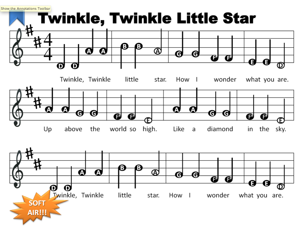 The gallery for --> Recorder Notes For Twinkle Twinkle Little Star
