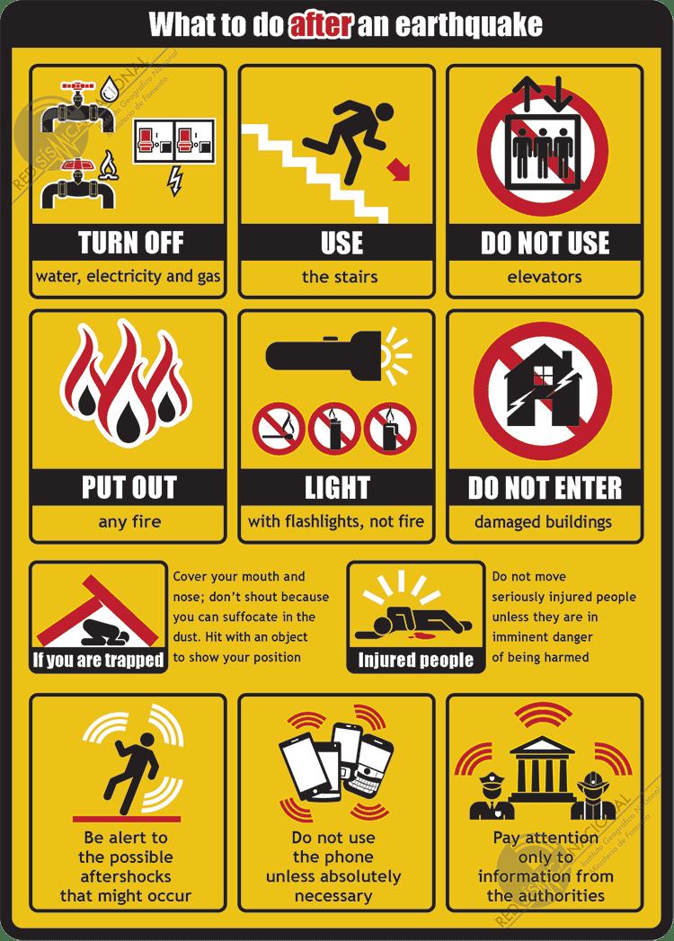 earthquake tips stay calm