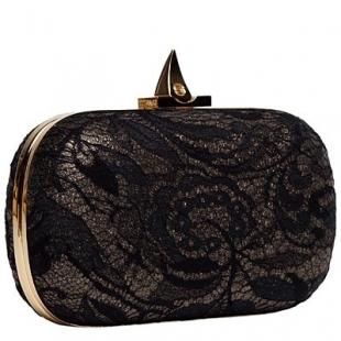 siyah kutu el çantası