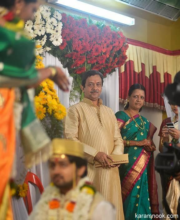 Marathi film and tv serial actress Tejashree Pradhan and actor