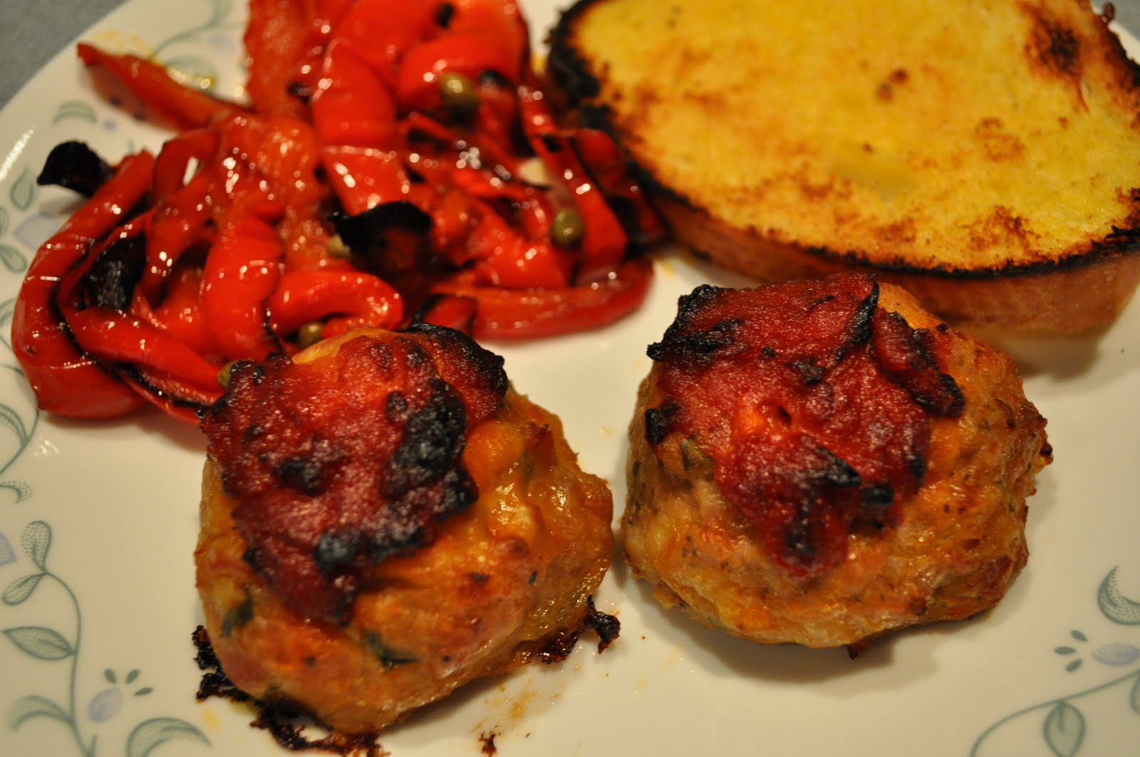 My Year of 25: Recipe #36 - Baked Chicken Meatballs with Peperonata