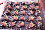 BROWNIES + STRAWBERRY