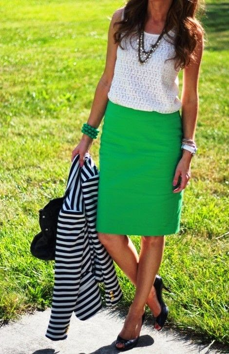 15 Of The Best Summer Outfits For Work Shirt -Anne Taylor Skirt - JC Penny Jacket - Marshalls find more women fashion ideas on