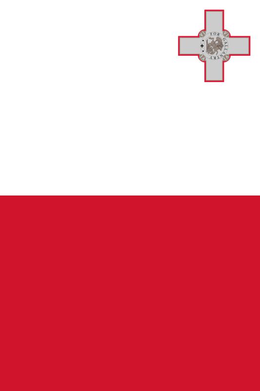 bandera de Malta para imprimir