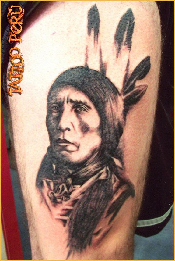 ¿En que parte del Cuerpo se puede Tatuar?. 01_tatuaje_de_un_indio