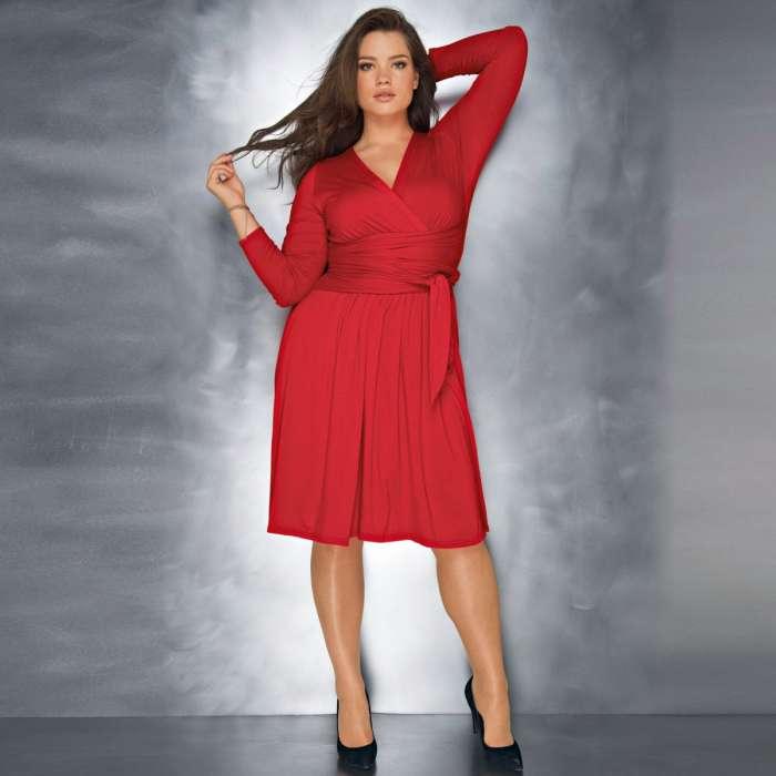Vestido rojo fiesta talla grande