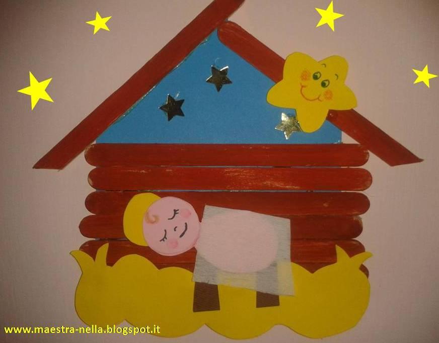 Maestra nella lavoretto natalizio con gli abbassalingua for Lavoretti per scuola infanzia