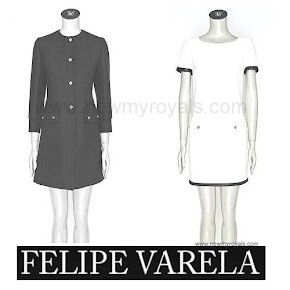 Queen Letizia Style FELIPE VARELA Coat and Dress