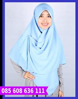 jilbab segi empat 2 warna