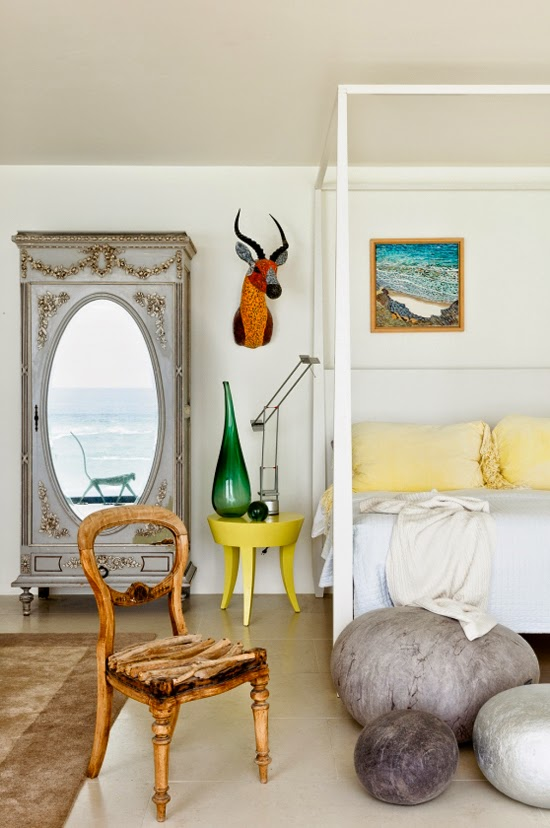 Safari Fusion blog | Coastal cool | An eclectic coastal style beach home over looking Wilderness beach, South Africa