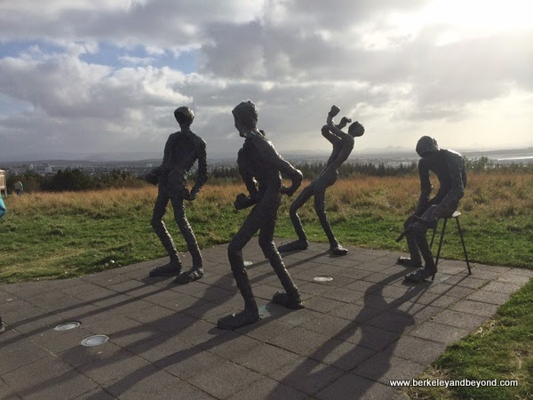 sculptures at The Pearl in Reykjavik, Iceland