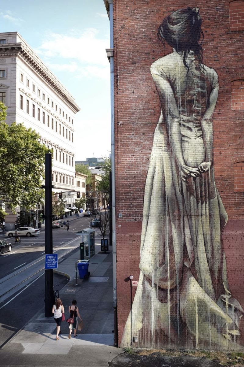 Faith47 capax infiniti new mural portland usa for Mural street art