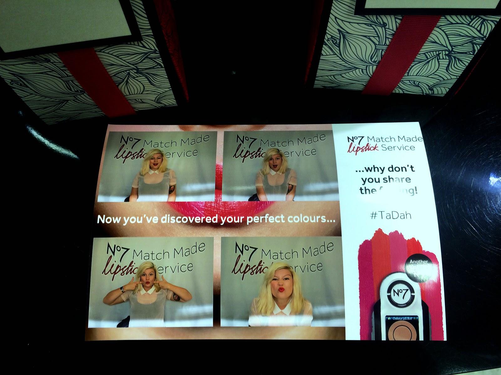 no7 boots blogger photobooth lipstick match service