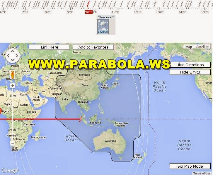 satelit parabola beam Indonesia thuraya 3 L band