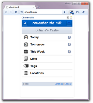 ChromeMilk Chrome extension