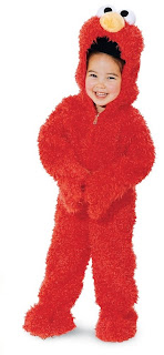Sesame Street Elmo Plush Delux Toddler Costume
