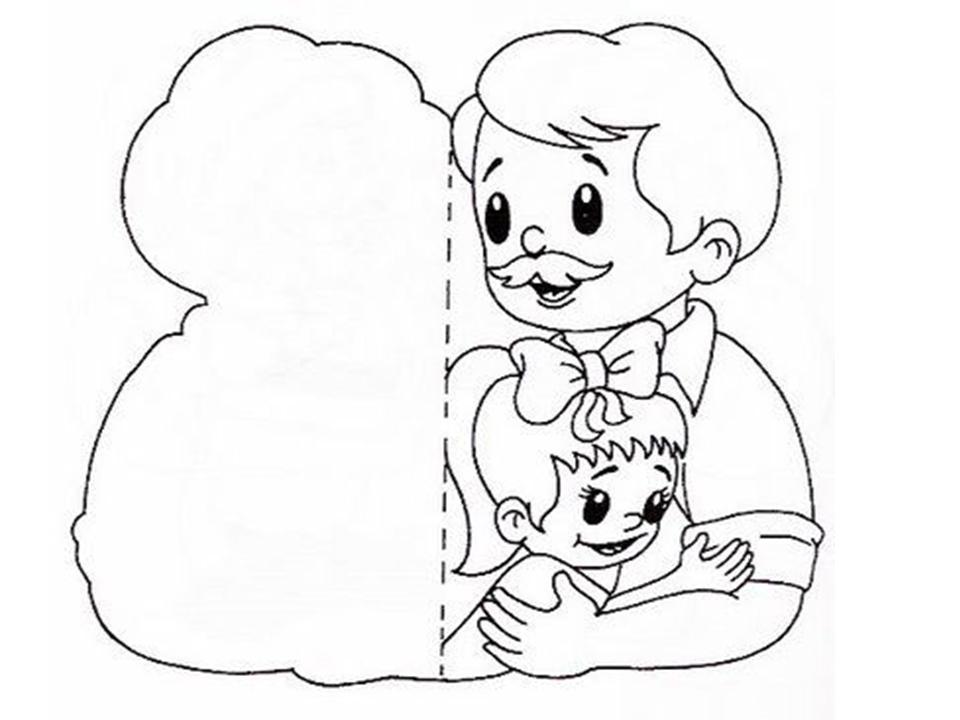 Contemporáneo Tarjetas Del Día De Padres Para Colorear Imprimibles ...