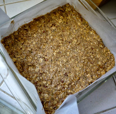 banana oat nut peanut butter bars