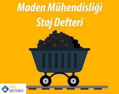 Maden Mühendisliği Örnek Staj Defteri