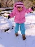 kid in snow
