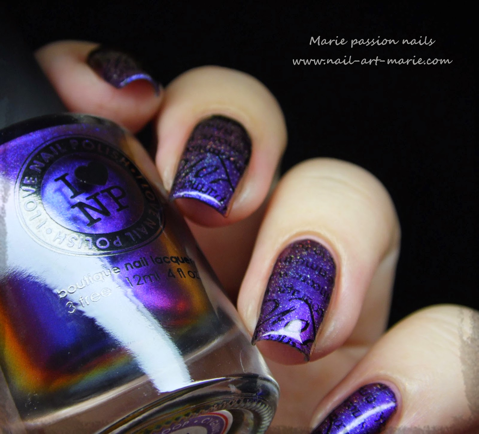 nail art stamping romantique2