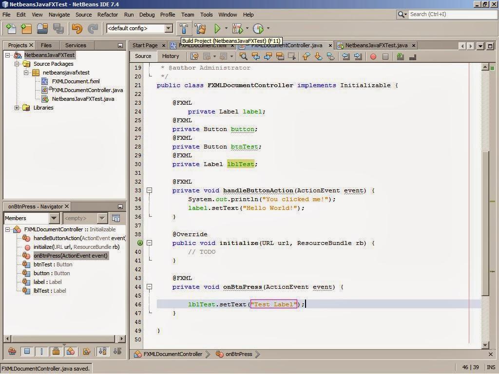 Netbeans, Android, JavaFX & Scene Builder: JavaFx