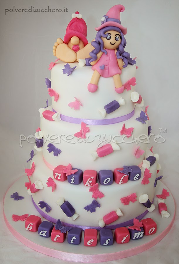 torta battesimo bimba elfo fatina vendita torte decorate polvere di zucchero