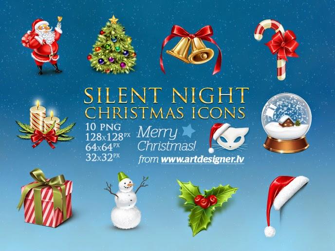 elementos navideños iconos