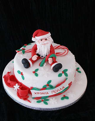 Christmas Cake Ideas Santa : Beauty And The Best  :   - CHRISTMAS CAKES -
