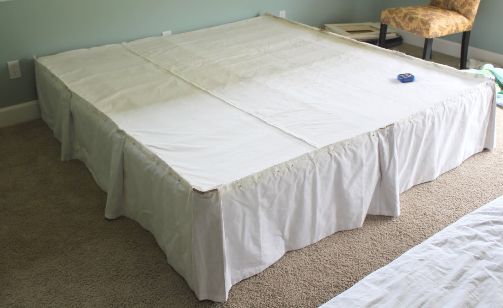 Crafty Sisters Bedskirt With Contrasting Box Pleats