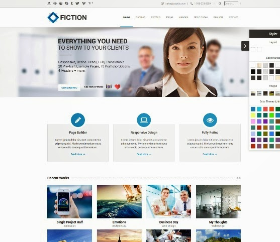 Fiction Flexible and Responsive WordPress Theme