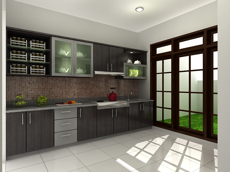 Harga kitchen set murah surabaya pemborong kitchen set for Harga kitchen set per meter lari