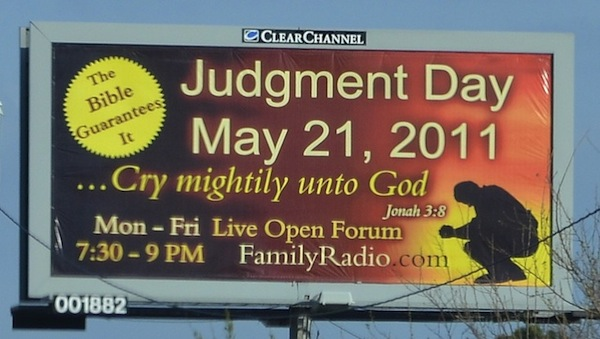 may 21st judgement day wiki. 2010 World, May 21st Judgement