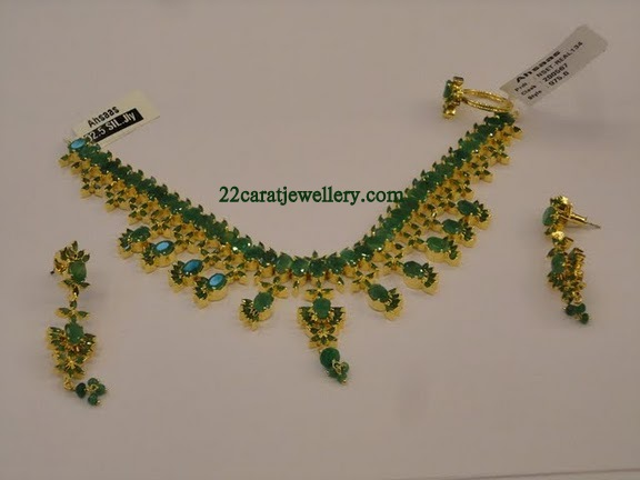 Ruby Emerald Imitation Jewellery 1 Gram Gold Jewellery Designs