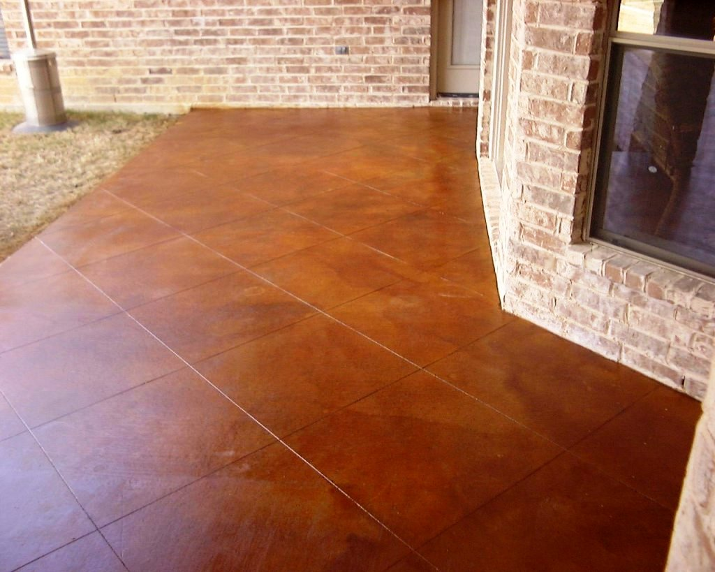 Awesome Exterior Stained Concrete Patio For Your Lovely Backyards. North  Dallas Homes