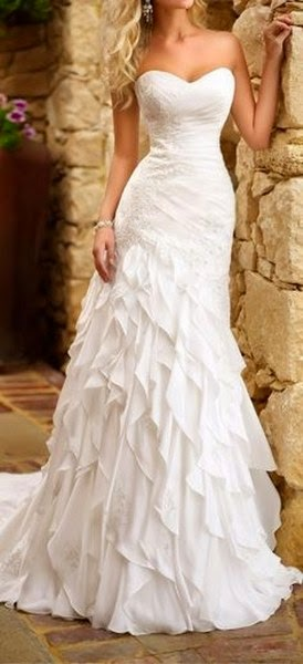White, Beautiful, Lovely Dress For Wedding.