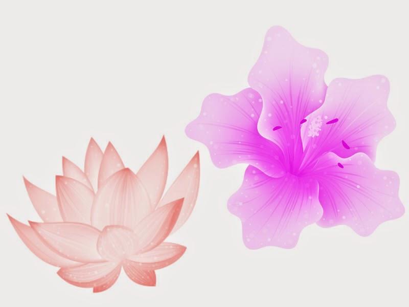 Exemplo pinceis flores adicionais no Pixlr