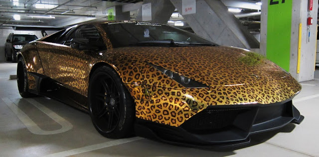 lamborghini murcielago leopard print