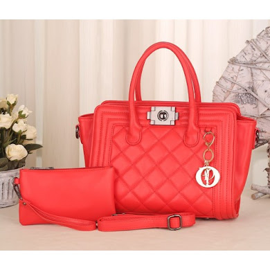 DIOR BAG ( 2 IN 1 SET ) - PINK