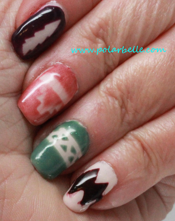 Polarbelle nail art with gelish urban cowgirl collection nail polish prinsesfo Images